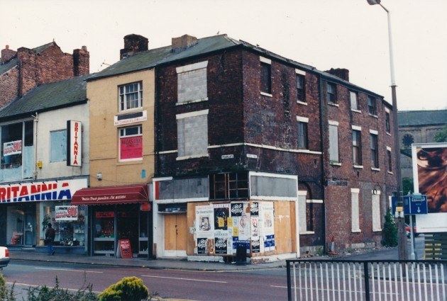 Corner of Friargate and Chapel Yard, Preston September 1988