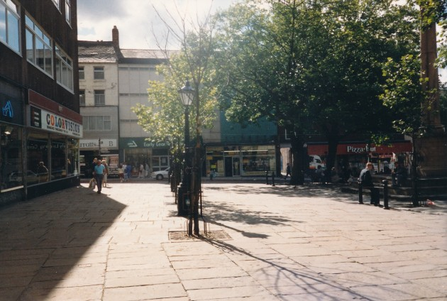 Market Square (south side), Preston August 1988