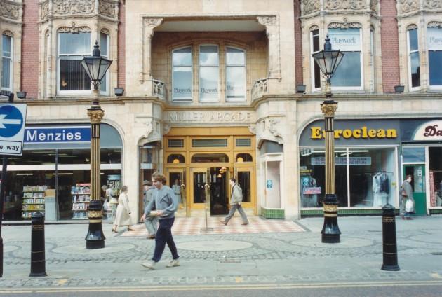 Miller Arcade, Church Street (north side), Preston June 1988