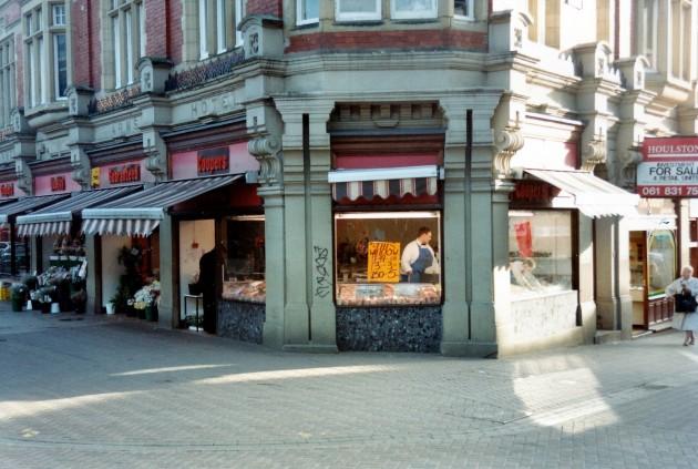 Market Street and Orchard Street Preston March 1989