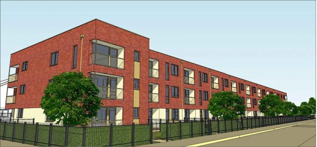 How the extra care flats will look on land off Geoffrey Street