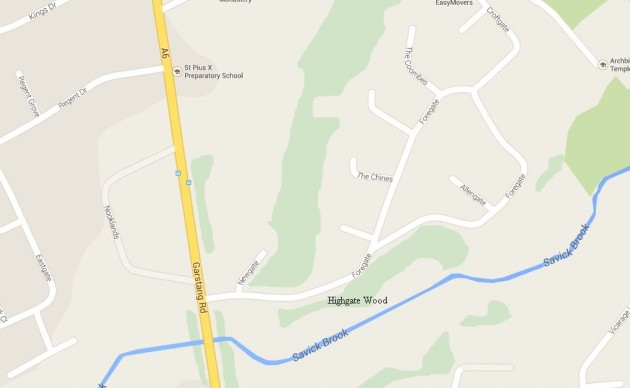 Highgate Wood Map