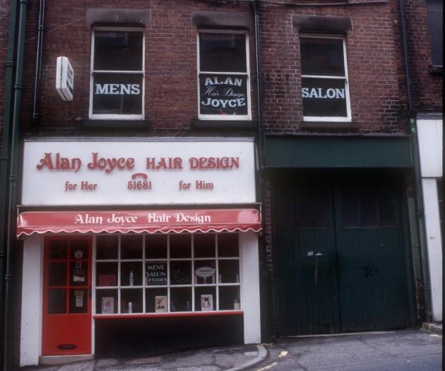 Alan Joyce Hair Design, Glovers Court (west side), Preston 1985