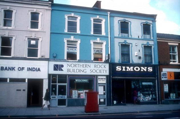 Shops, 86-88 Fishergate (north side), Preston 1984
