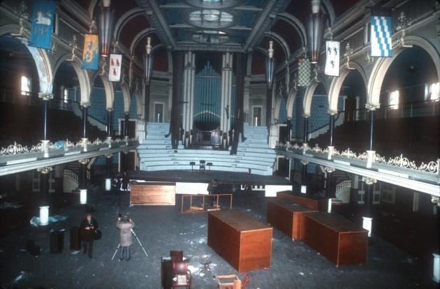 Public Hall Interior of Main Hall, Lune Street, 1983