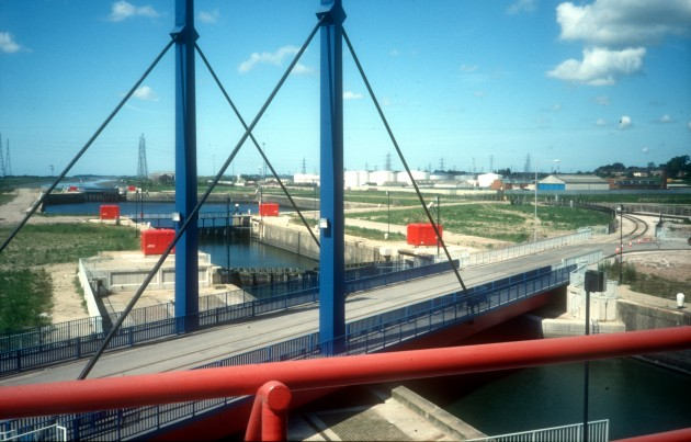 View From Preston Dock Control Centre, Preston 1987