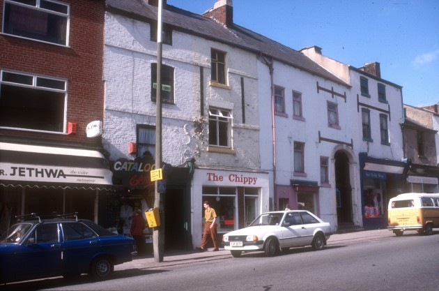 Friargate (lower south side featuring St Marys entrance), Preston 1986