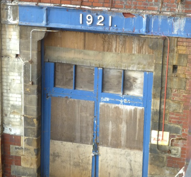 Former engine room with year marked of installation of new steam engine. Pic: Karen Doyle, Preston Historical Society