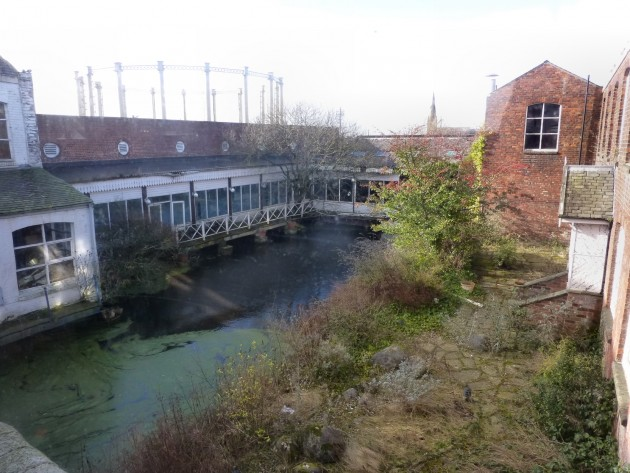 Mill reservoir or lodge. Pic: Karen Doyle, Preston Historical Society