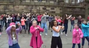 Flashmob for AJ's Dream in the city centre