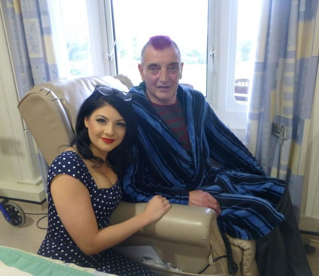Patient Peter Fitzpatrick with Lucy Kay