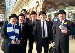The Gentry awaiting their train at Preston
