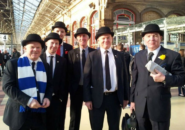 The Gentry awaiting their train at Preston