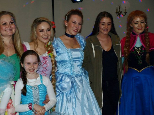 Second from right: Brooke Vincent, better known as Sophie Webster, joined the party