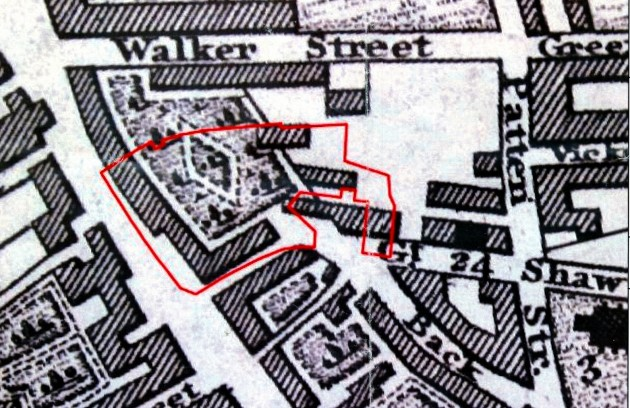 Extract from Baines Map 1824