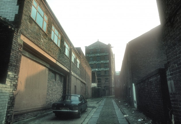 Former Starkies Wire Works, Cotton Court off Church Street, Preston 1983