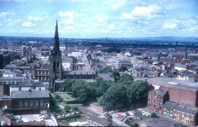 Parish Church and north side of Preston from Kendal House 1964