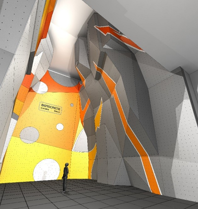 Architects drawing of the new climbing wall
