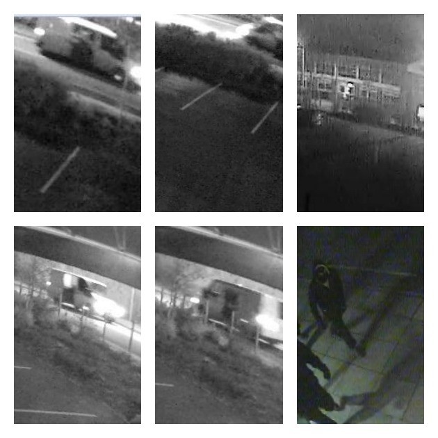 CCTV pictures showing the van and offenders released by Lancashire Police
