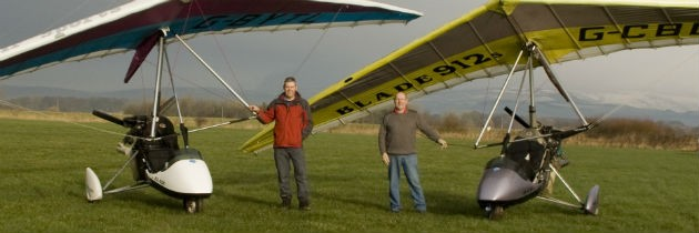 The pair are experienced microlight pilots
