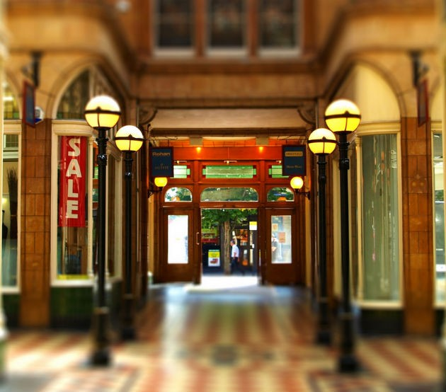 The Arcade has many period features and is a listed building Pic: Tony Worrall