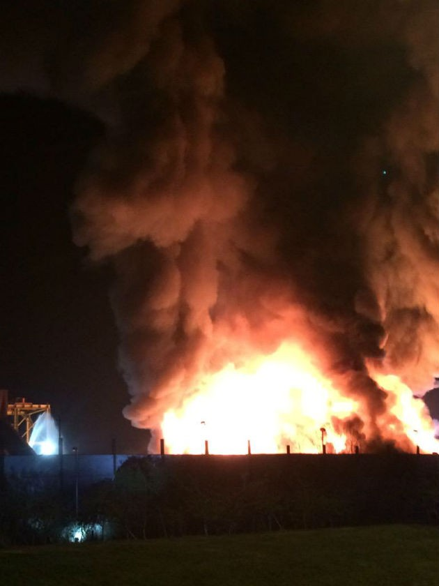 Picture from Lancashire Fire and Rescue showing the blaze