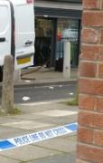 Police tape outside the Co-Op in Ingol