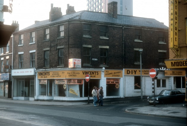 Church Street looking towards Derby Street, Preston 1976
