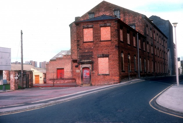 Corn Mill, Arthur Street off Bow Lane, Preston 1976: All swept away to make way for the LCC extensions and doesn't look one bit like this now.
