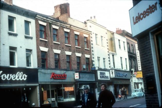 Fishergate shops (north side), Preston 1976
