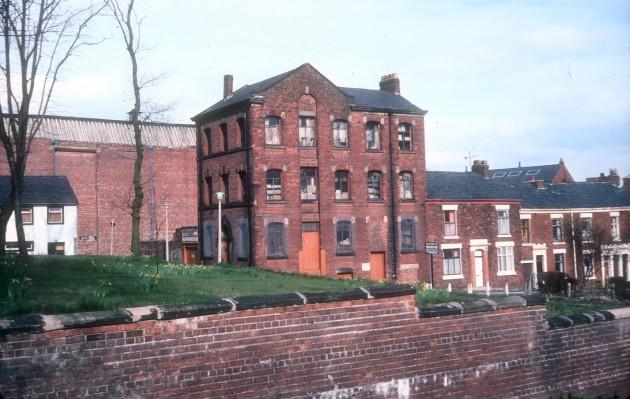 Rear of former Parish Church, Original part of Stoneygate, Preston 1979