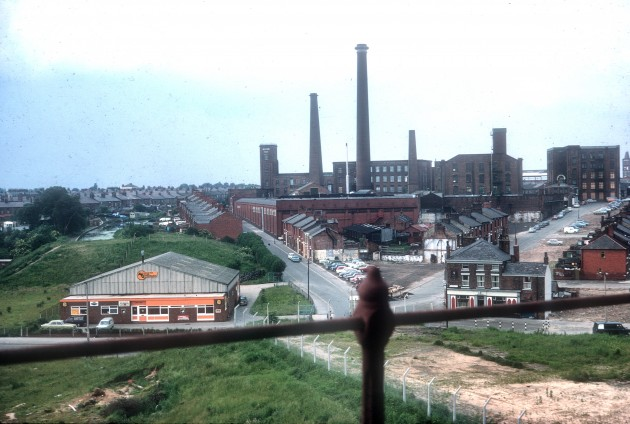 Gosses taken from Steam Mill on Fylde Rd Shows railway and canal, Preston 1972