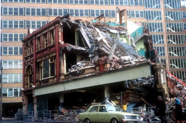 Demolition of Co-op Store on corner of Lancaster Road & Ormskirk Road, Preston 1973