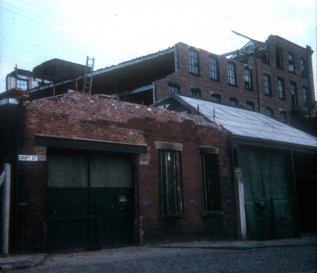 Demolition of Croft Street Mill, Croft Street, Preston 1971