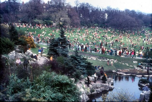 Easter in Avenham Park, Preston 1970