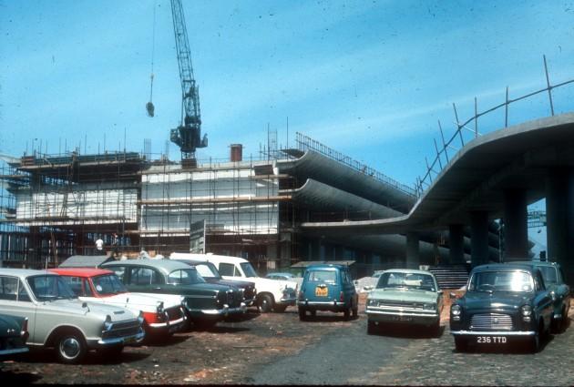 Central bus station under construction, Preston 1969