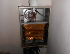 The boiler found in staff living quarters