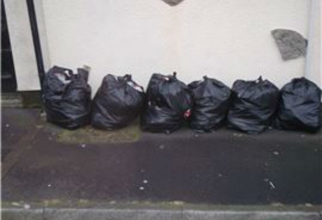 Rubbish bags were found to have been dumped by Miss Coles