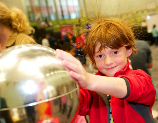 Enjoying the attractions at last year's science festival