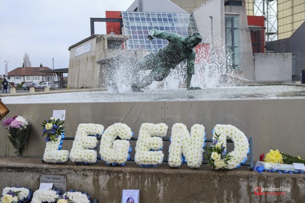Tributes left at Deepdale for Sir Tom one year on from his death