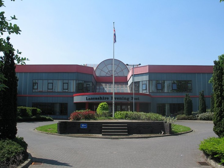 The Lancashire Evening Post operated from the site in Fulwood