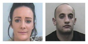 Chenice Jackson and Josh Hampson, both from Preston, have been jailed for their role in a drugs gang