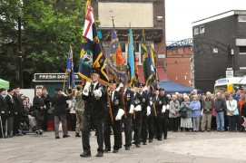 Veterans marching at Armed Forces Day 2014 Pic: Gill Lawson