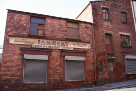 What used to the printing works in Glovers Court Pic: Middle Miss Ford