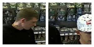Two men police are looking for in connection with the theft