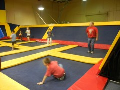 An indoor trampoline park Pic: Penny