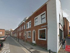 The properties stand in St Wilfrid Street next to Korova cafe Pic: Google