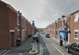 Christ Church Road where the collision took place Pic: Google