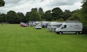 Travellers on the Penwortham Recreation Ground