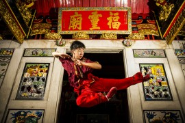 Wushu being performed Pic: Ade Putra